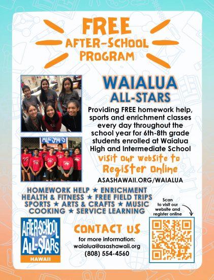 21-22 Flyer Waialua